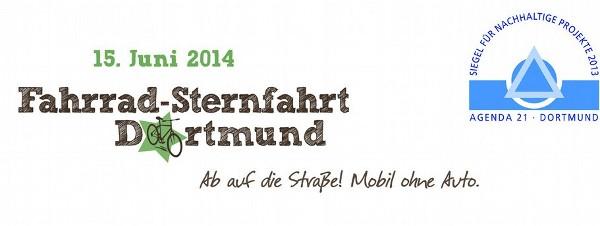 Banner Fahrradsternfahrt Dortmund 15.6.2014