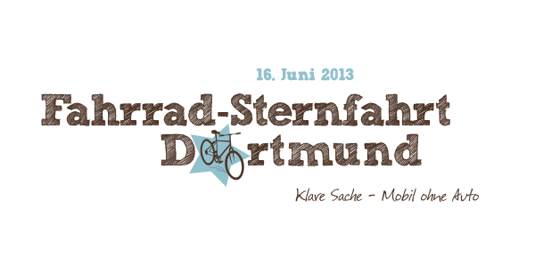Banner Fahrradsternfahrt Dortmund 16.6.2013