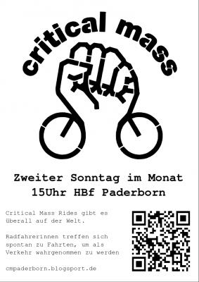 Critical Mass Paderborn: Jeden zweiten Sonntag im Monat